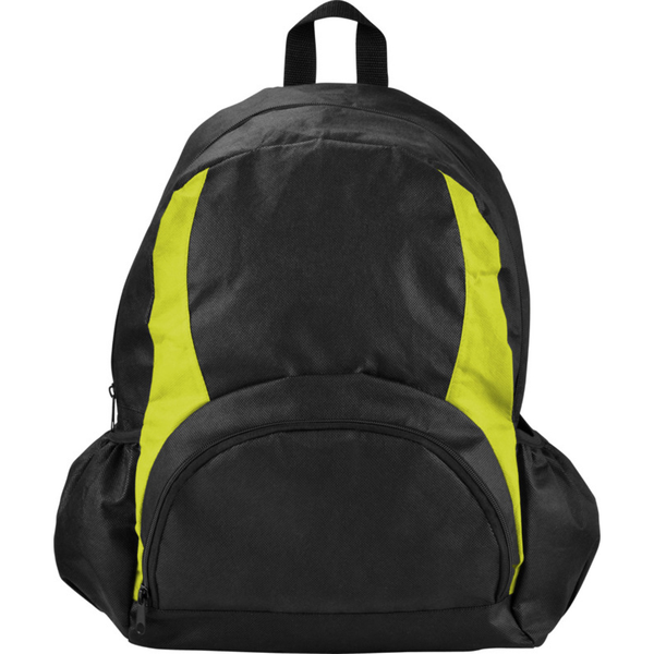 Unbranded Bullet the bamm-bamm non woven backpack solid black/apple green