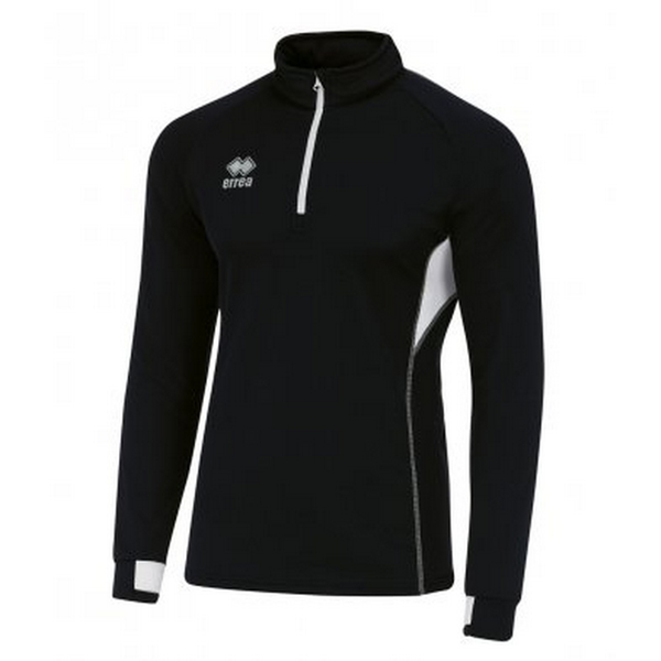 Errea unisex fartlek zip neck top black/white utpc3272