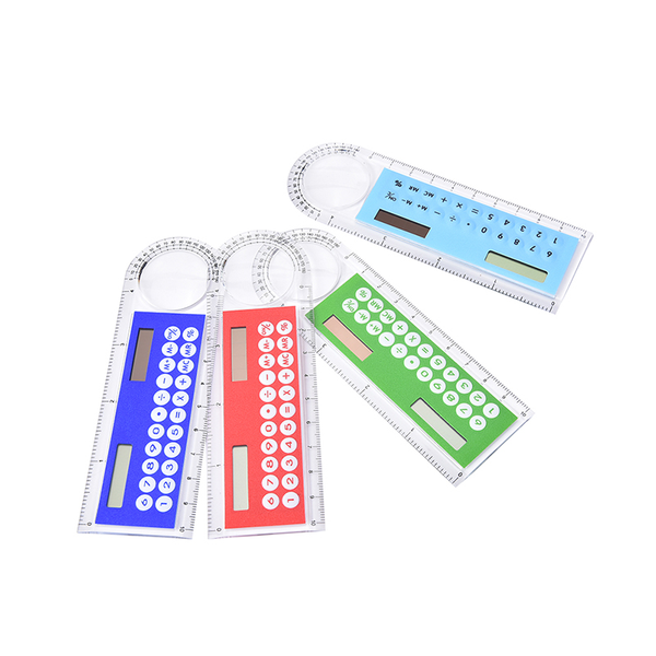 3in1 mini solar power calculator 10cm long magnifying glass with