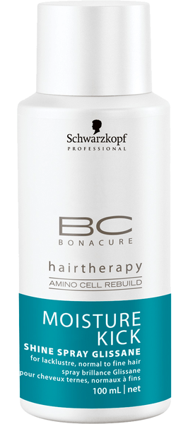 Schwarzkopf bc moisture kick shine spray glissane 100 ml