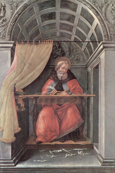 St Augustine in his Study,Sandro Botticelli,60x40cm