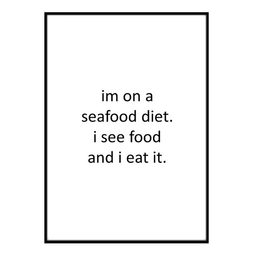 Poster - Seafood diet A4 21x30cm