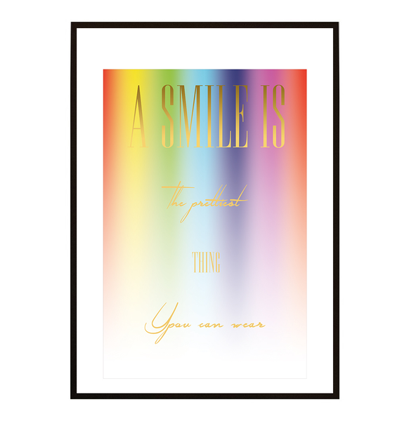 Poster - A smile is the prettiest no.5 40x50cm