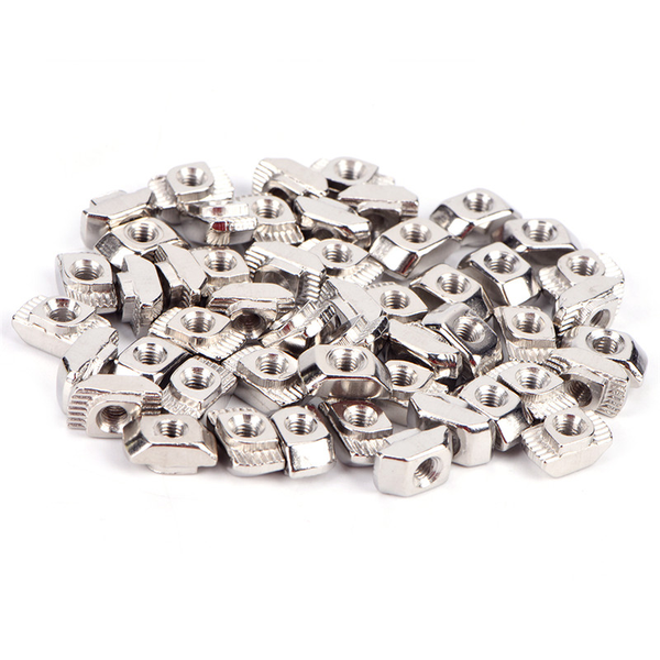50pcs european t-slot aluminum carbon steel drop in t-nut m3 m4