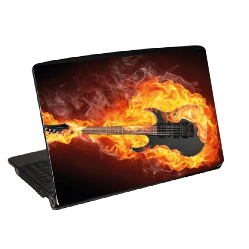 Laptopdekor laptop skin gitarr flames