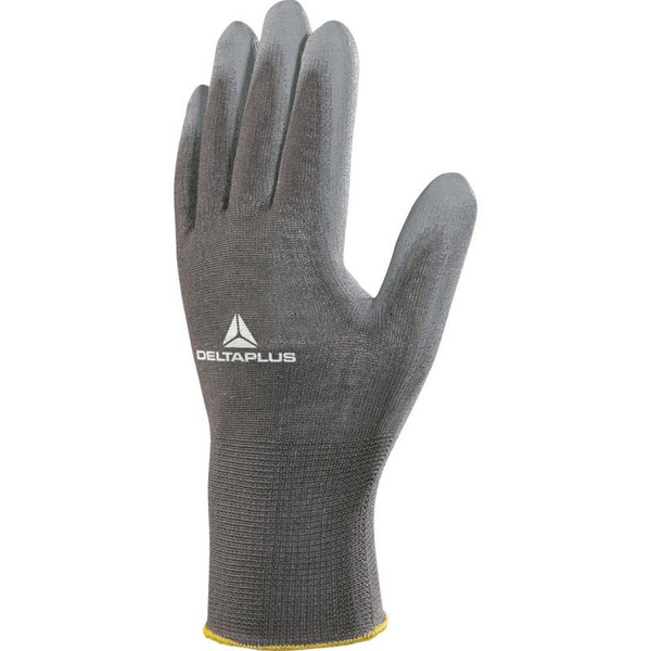 Delta plus knitted polyester work safety gloves grey utbc3696