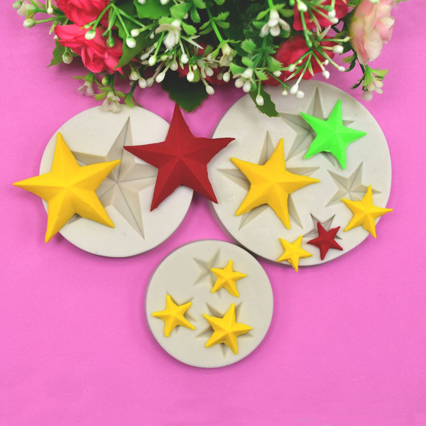 Stars silicone mold cookies mould baking tools cake decor
