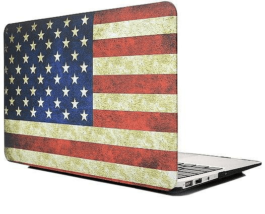Gadgetme snap-on skal till macbook air 13″ – usa:s flagga