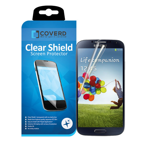 Coveredgear clear shield skärmskydd till samsung galaxy s4