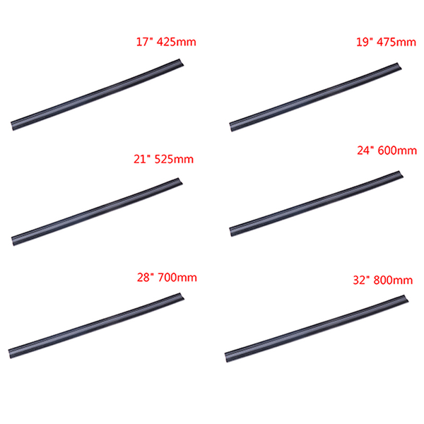 2pcs car bus silicone universal frameless windshield wiper blade