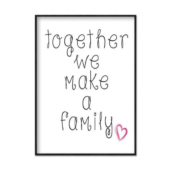 Poster A3 30x42cm Family