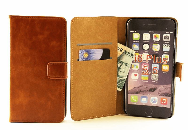 Köp Crazy Horse Standcase Wallet iPhone 6 Plus   6s Plus Brandy 9dd7d99b746f5