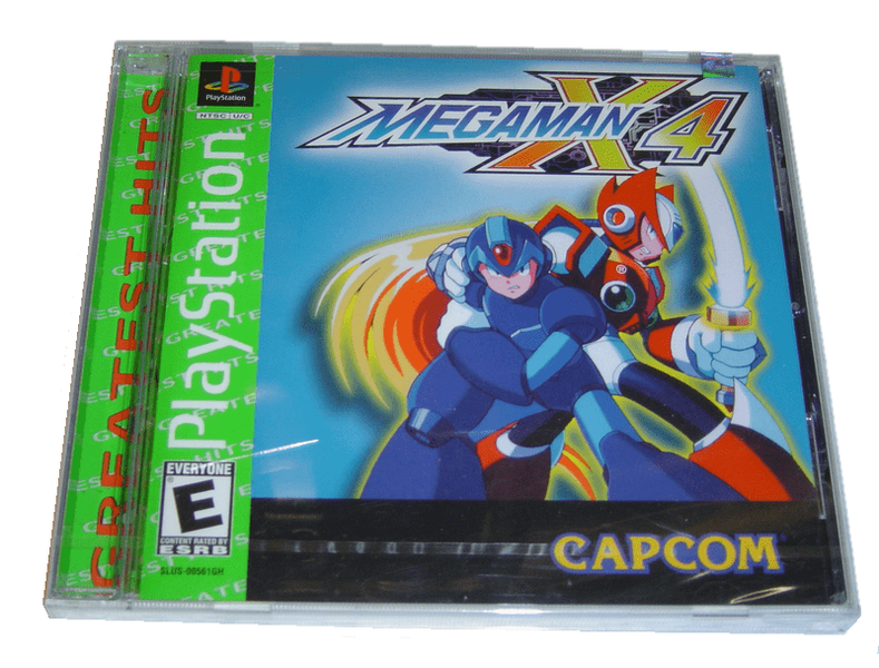 Mega man x4 playstation amerikanskt