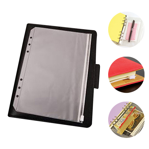 Pvc storage bag for notebook diary day planner zipper bag busine