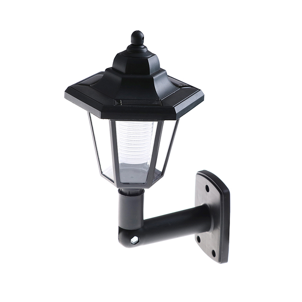 Solar powered wall mount led light outdoor garden path landscape