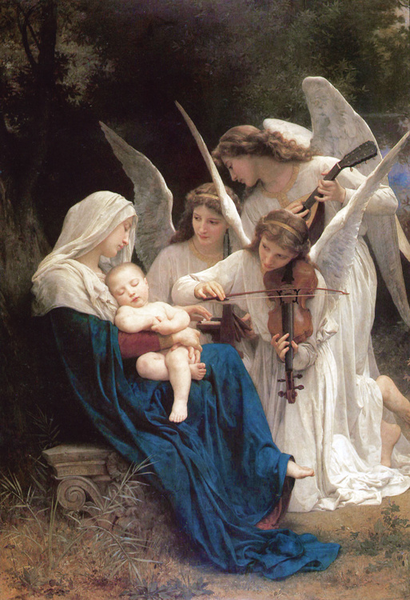 Sketch for for for Song of the,Adolphe William Bouguereau,39.4x27.9cm be6593