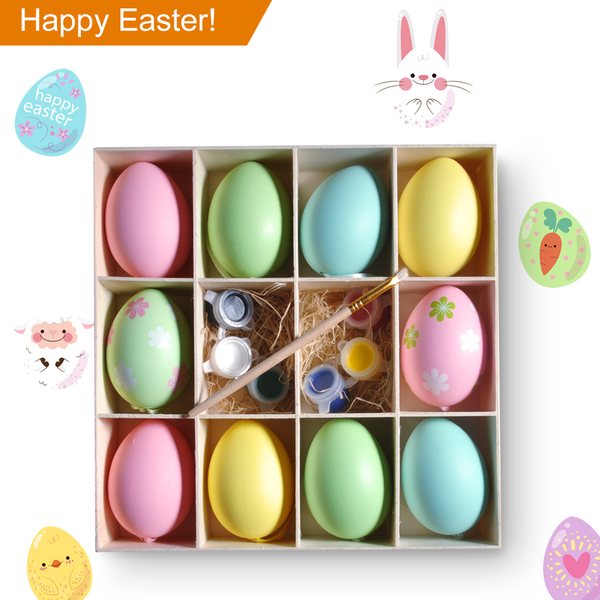 Easter eggs 10pcs colorful plastic eggs crafts diy painting
