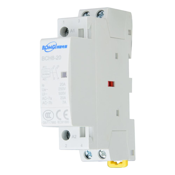 2p 20a 2no household ac contactor din rail mount (24v)