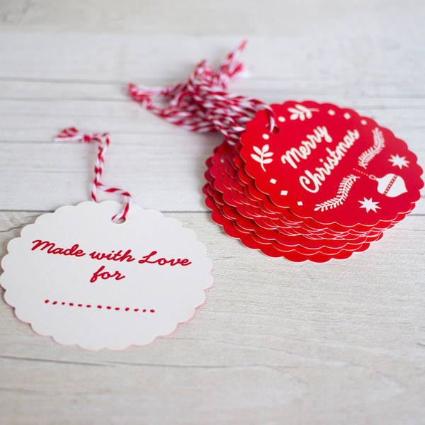Merry christmas and happy new year scandi style gift tag set …