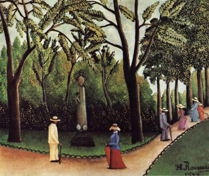View of of of the Luxembourg, Henri Rousseau, 60x50 cm 7ff42a