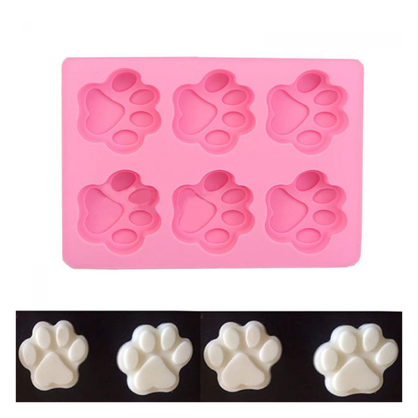 Soap mold mould 6-cat's paw cake decorating