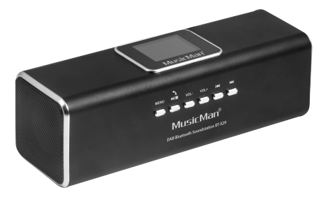 Technaxx musicman dab bluetooth soundstation black