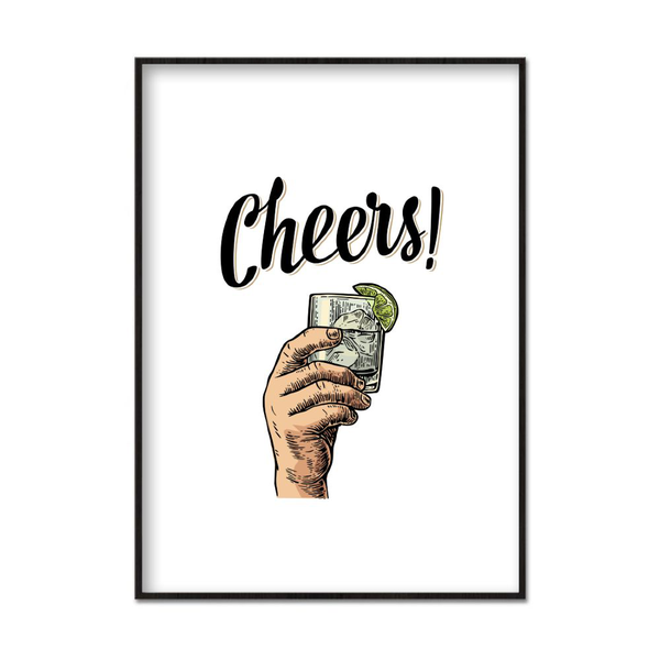 Poster A3 30x42cm Cheers! Vit