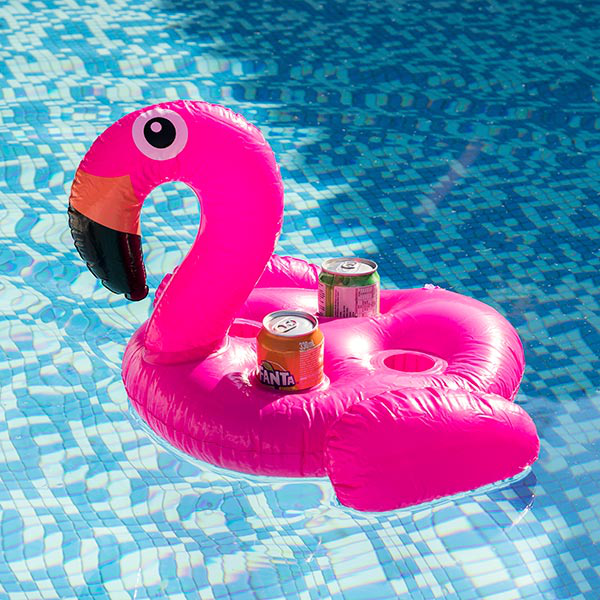 Flamingo inflatable can holder (4 cans)
