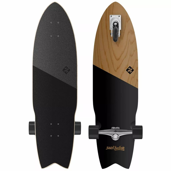 Street surfing pumping board shark attack 91,4 cm koa black