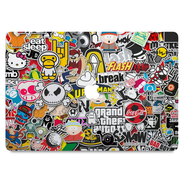 macbook pro retina 15″ (ej touch bar) skin sticker bomb