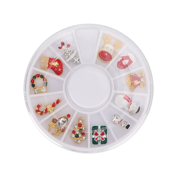 3d christmas style 12 grids nail diy manicure nail art decor