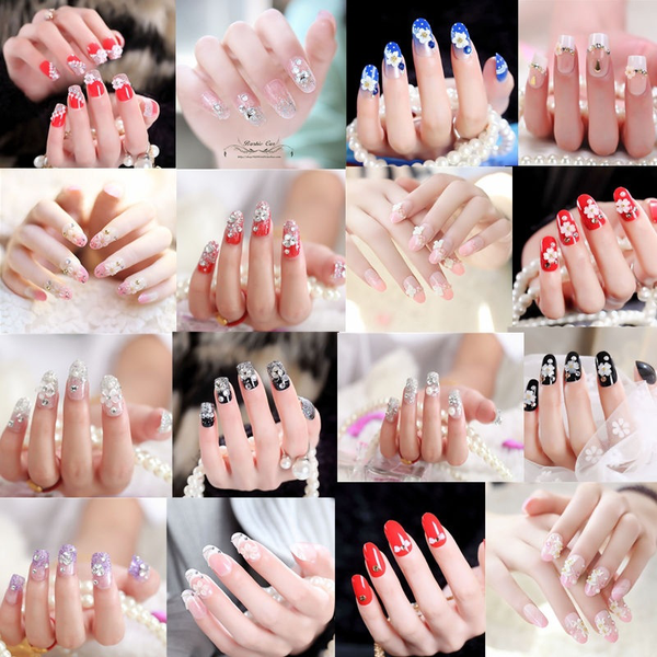 24pcs/box nails gaga new full cover natural false nails fake