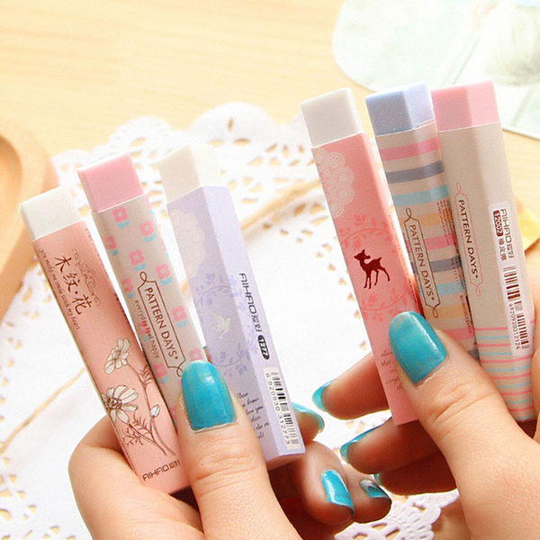Elegant long cleansing drawing painting rubber eraser stationary