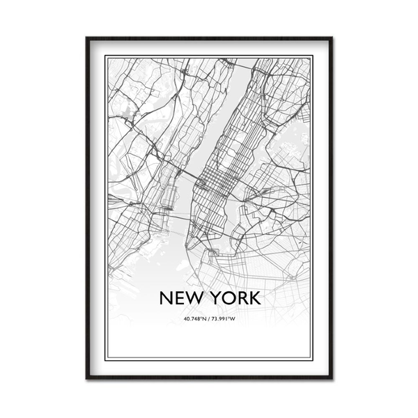 Poster A4 21x30cm New York