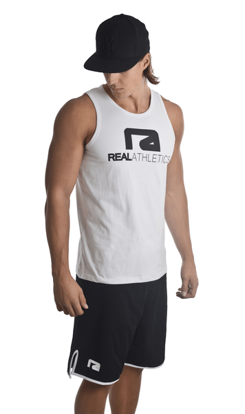 Athletic tank top – träningslinne vit