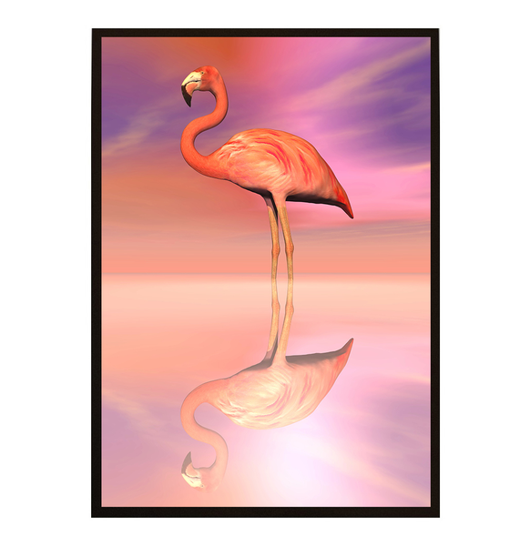 Poster - Flamingo Shine no.2 21x30cm