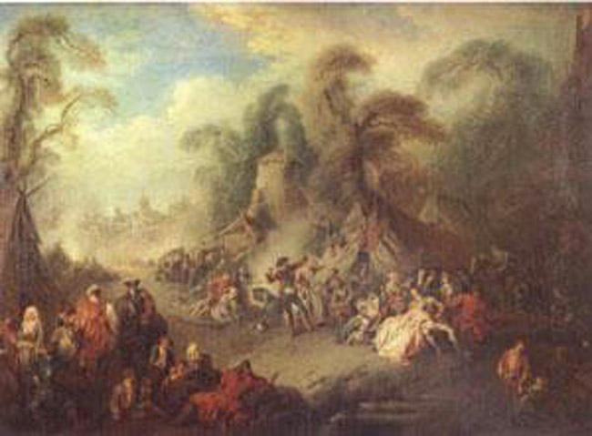 A Country Festival with Soldiers Rejoicing,Pater Jean-Baptiste,5