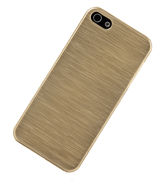 Iphone 5/5s cover – skal – aluminiumlook (guld)
