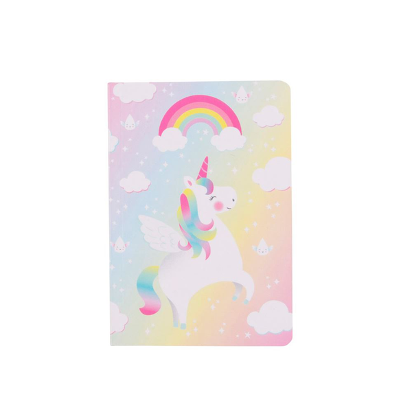 Rainbow unicorn mini pocket notebook childrens party gift