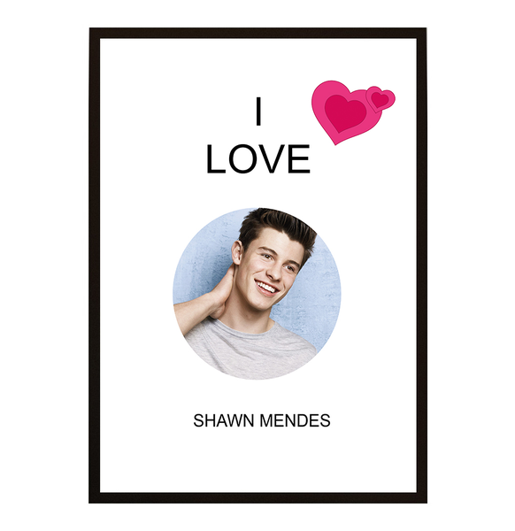 Poster - I Love Shawn Mendes No.6 40x50cm