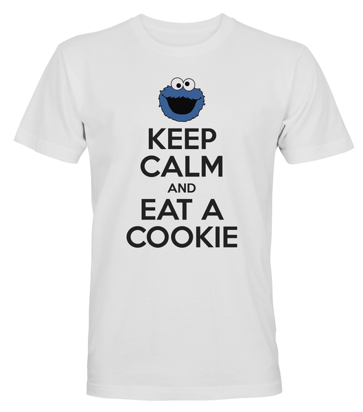 Keep Calm Eat A Cookie - T-SHIRT - HERR