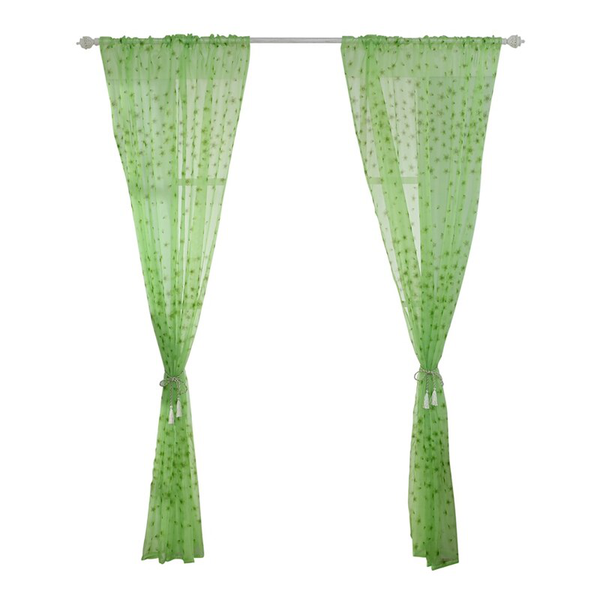 Divider tulle voile drape panel sheer scarf valances curtains