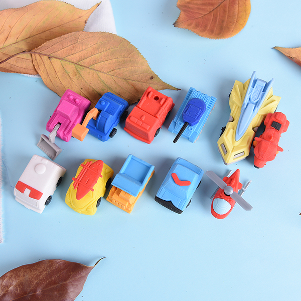1x car design students eraser rubber stationery kid gifts toy sc