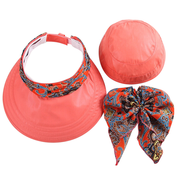 Women foldable anti-uv sun hat face protection hats wide big br