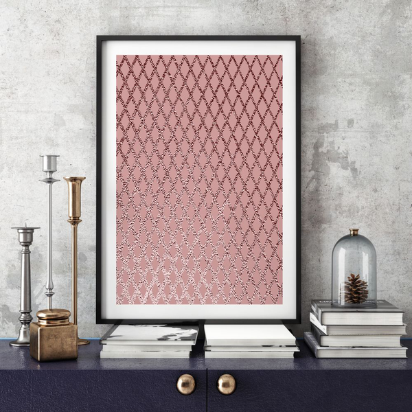 Poster A3 30x42cm Rose Gold Gold Gold efac29