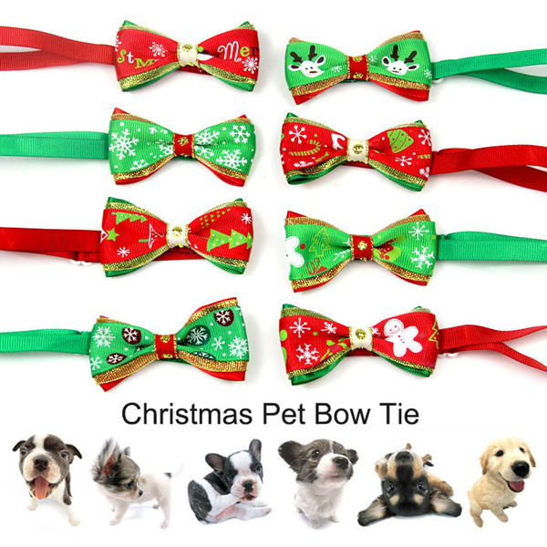 Dog collar bowtie pet necktie christmas accessories dogs 1pc