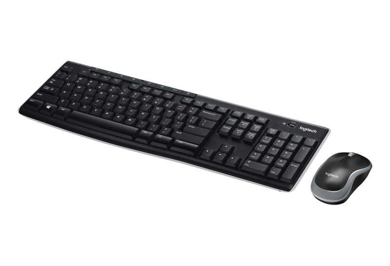 Logitech mk270 wireless combo kb and mouse nordic black