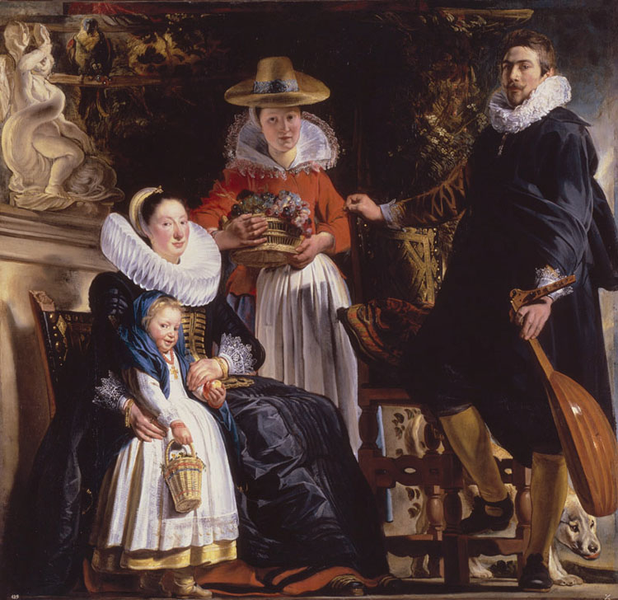 The The The Family of the Arist,Jacob Jordaens,50x50cm aed345