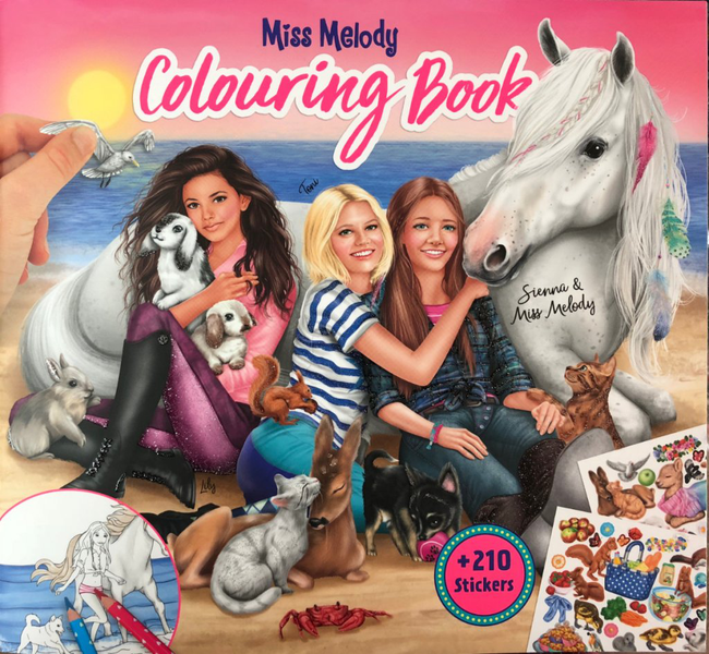 Miss Melody pyssel Häst Colouring Book 2019 + 210 stickers