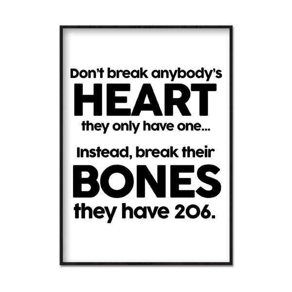 Poster A4 21x30cm Don't Break Hearts